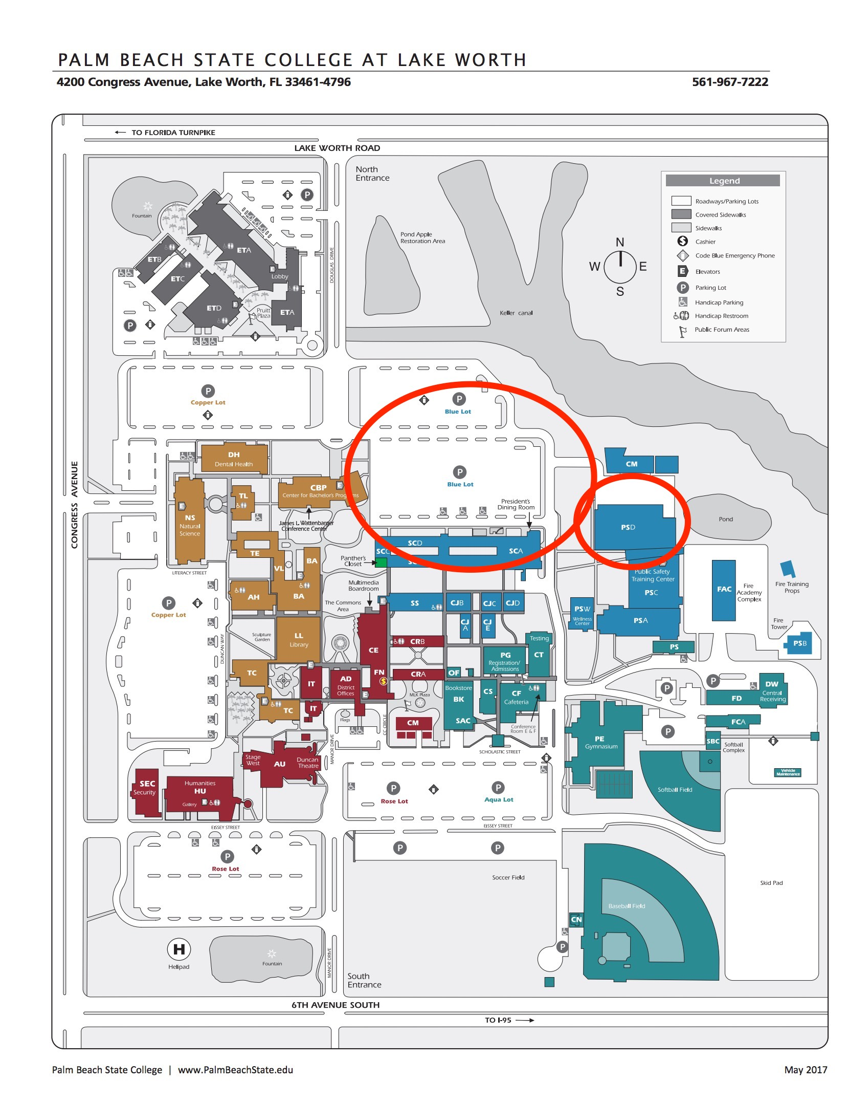 Palm Beach State Campus Map